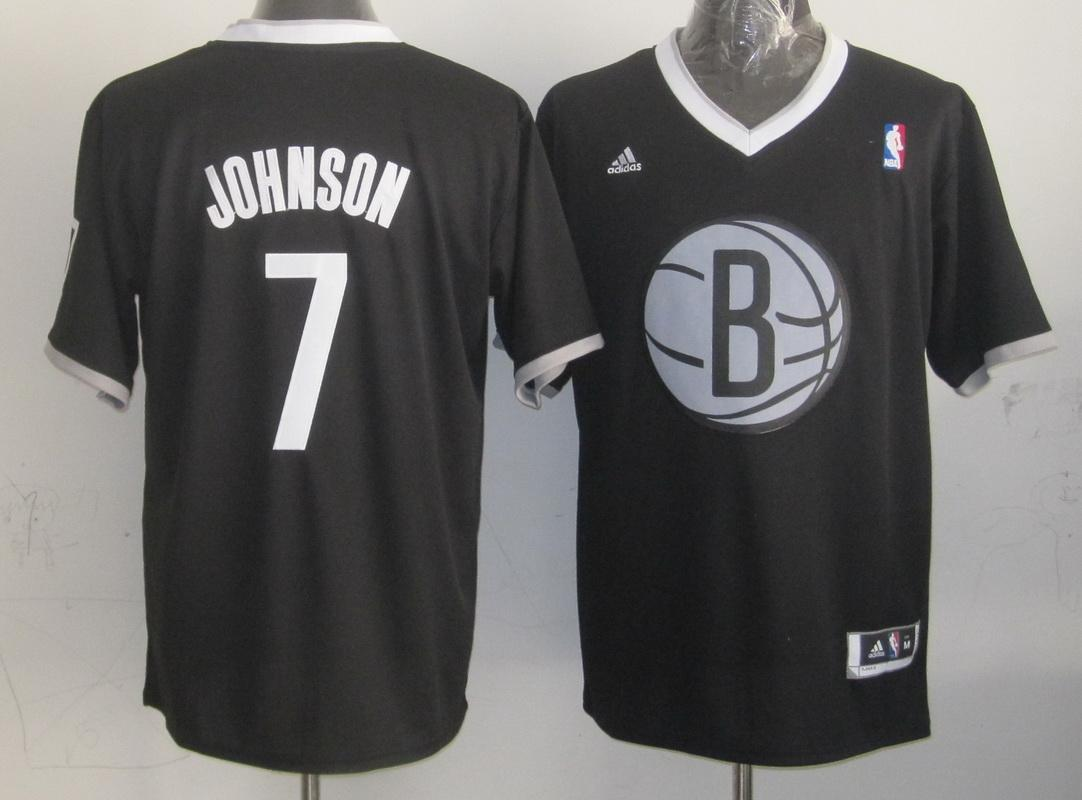 Nets #7 Joe Johnson Black 2013 Christmas Day Swingman Stitched NBA Jersey
